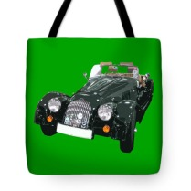 classic motor art in green tote