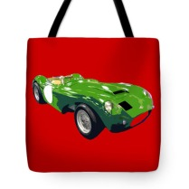 classic sports green art tote